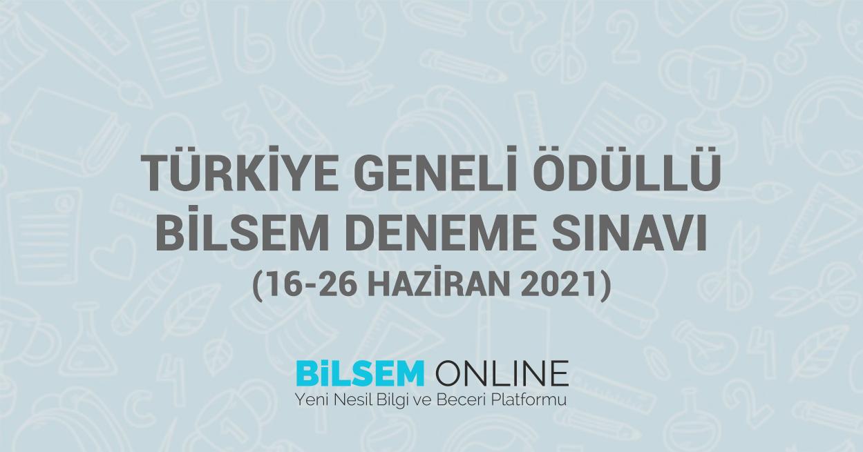Türkiye Geneli Ücretsiz Ödüllü Bilsem Deneme Sınavı