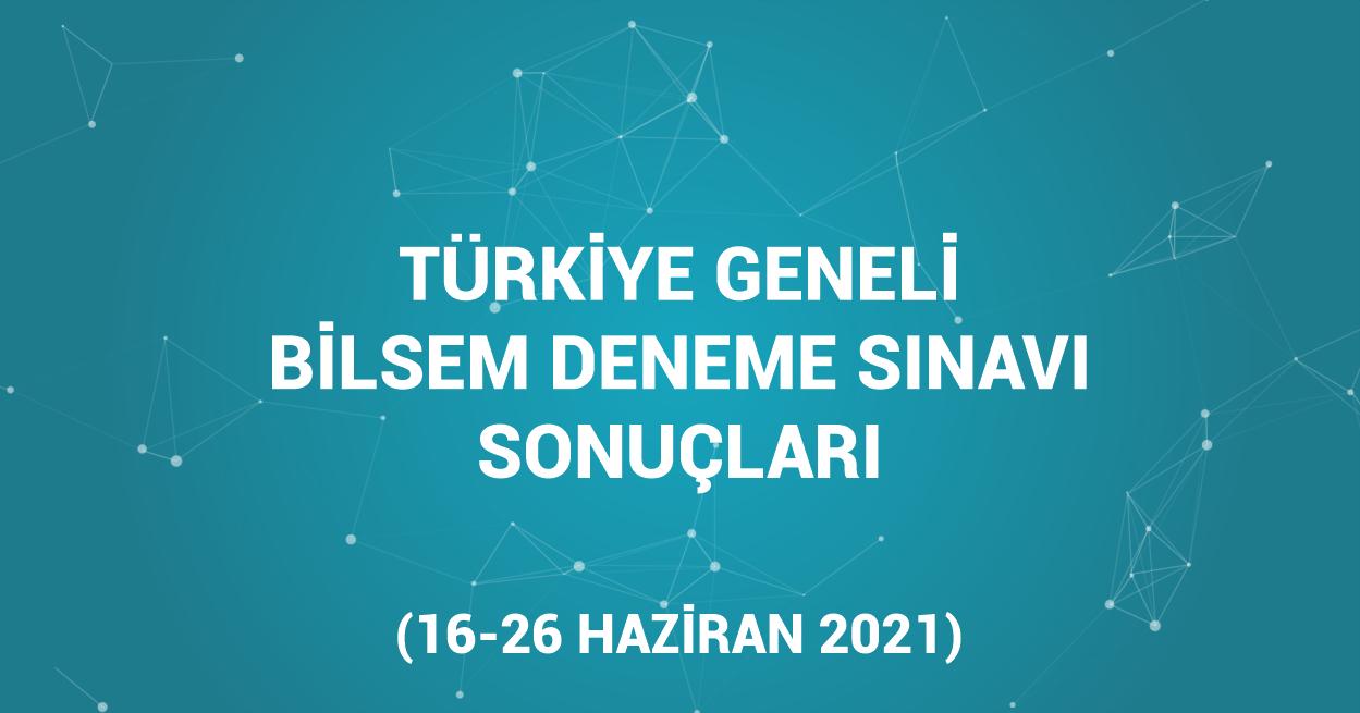 Türkiye Geneli Ücretsiz Ödüllü Bilsem Deneme Sınavı Sonuçları