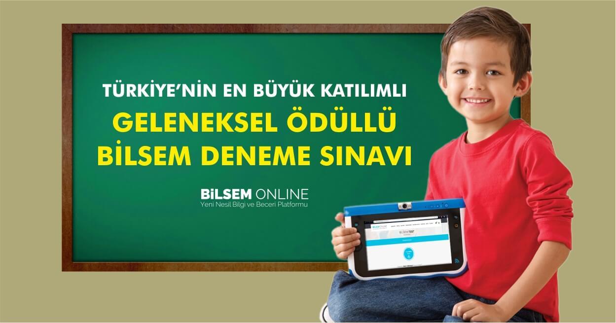 2019-2020 Türkiye Geneli Ödüllü Bilsem Deneme Sınavı