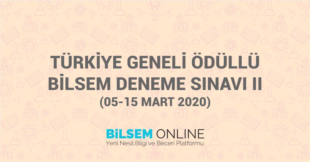 Türkiye Geneli Ödüllü Bilsem Deneme Sınavı II