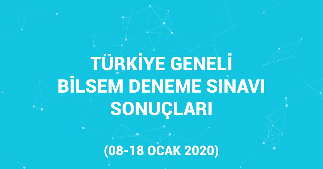 Türkiye Geneli Ödüllü Bilsem Deneme Sınavı Sonuçları
