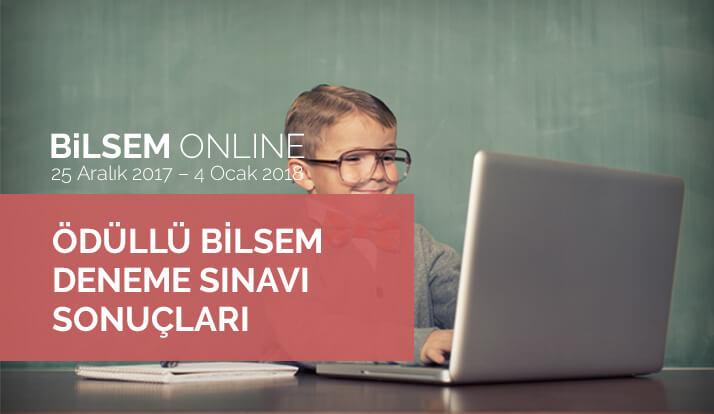 Bilsem Online Ödüllü BİLSEM Deneme Sınavı Sonuçları