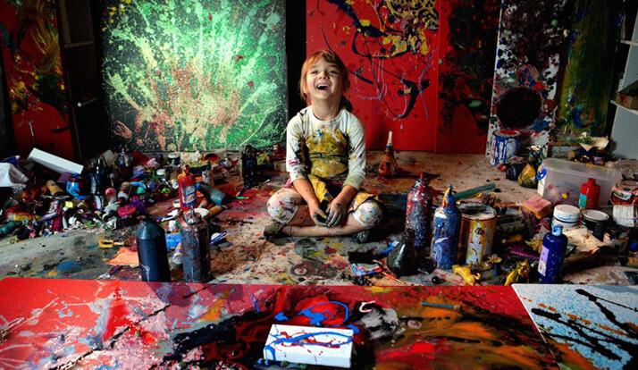 Avustralya'nın Minik Ressamı Aelita Andre