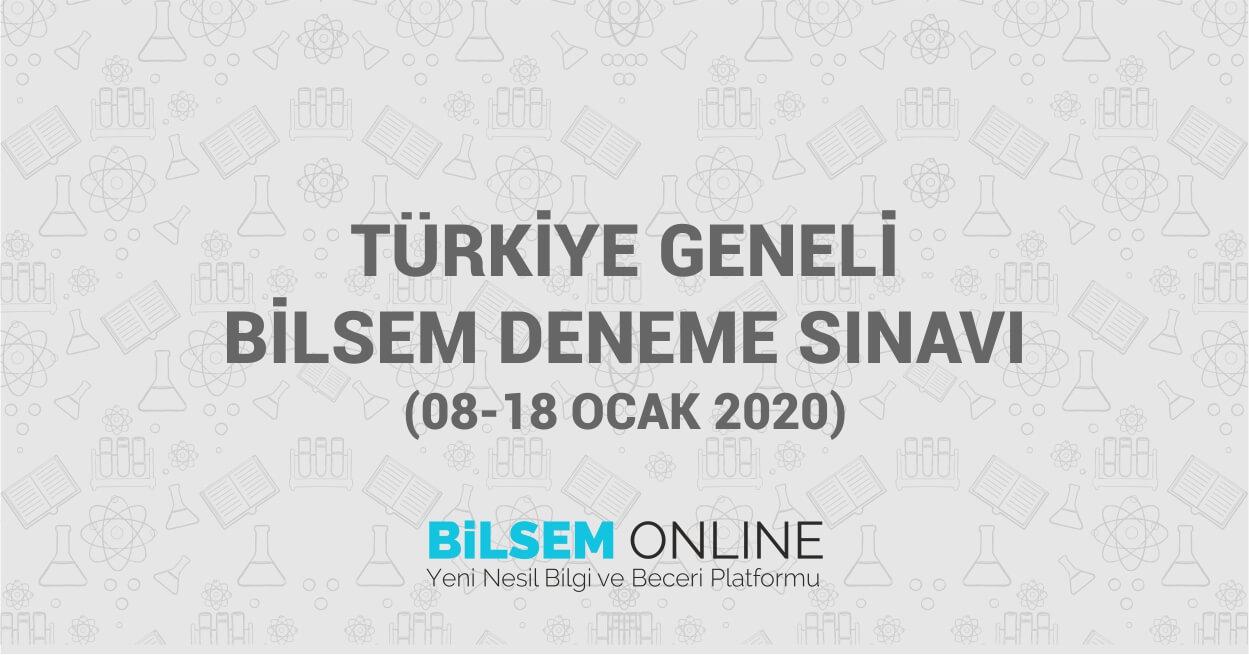 Türkiye Geneli Ödüllü Bilsem Deneme Sınavı